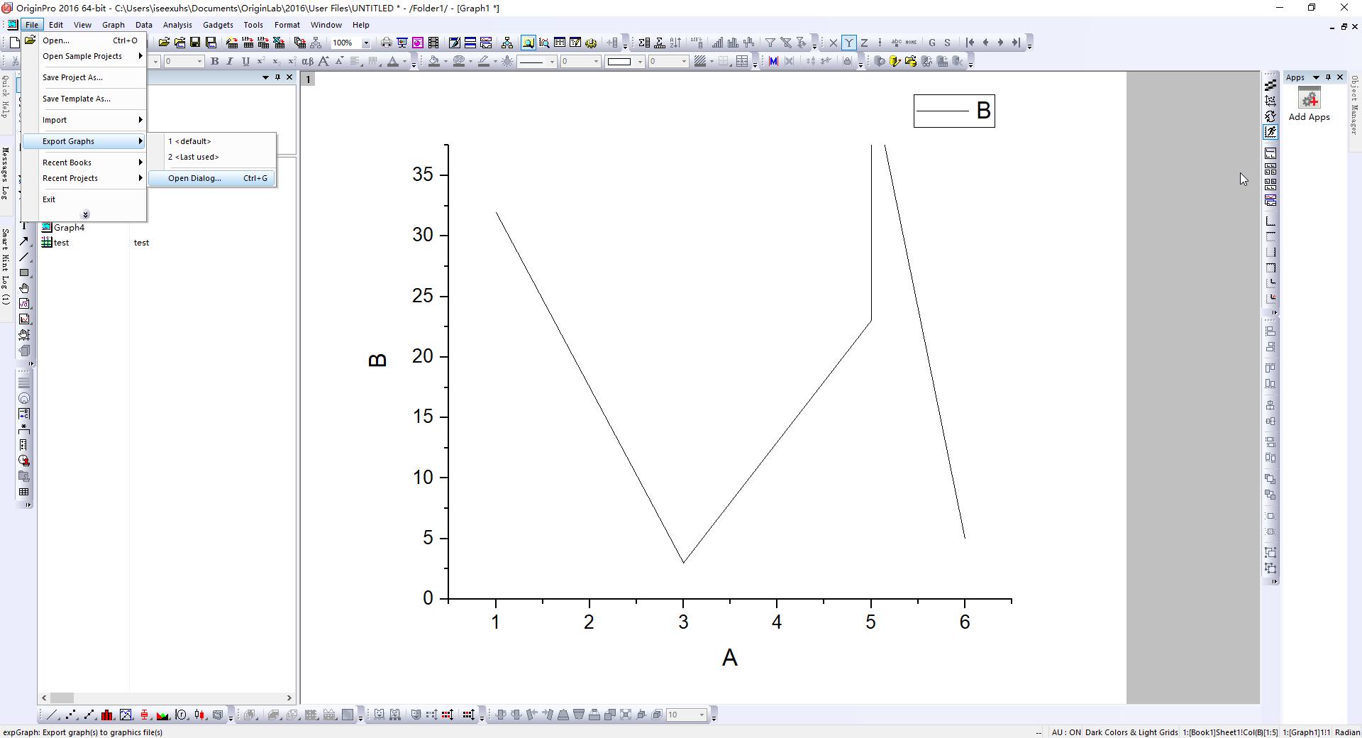 Graph导出菜单